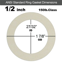 "Equalseal EQ 750W N/A NBR Ring Gasket - 150 Lb. - 1/16"" - 1/2"" Pipe"
