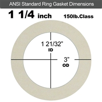 "Equalseal EQ 750W N/A NBR Ring Gasket - 150 Lb. - 1/16"" Thick - 1-1/4"" Pipe"