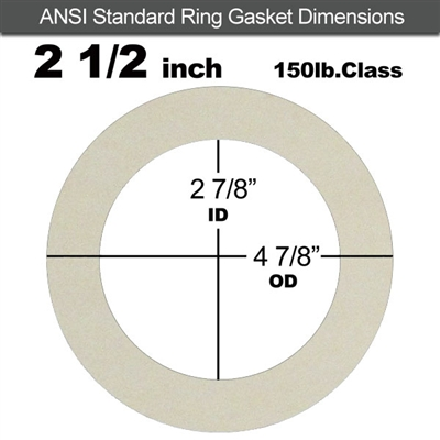 "Equalseal EQ 750W N/A NBR Ring Gasket - 150 Lb. - 1/16"" Thick - 2-1/2"" Pipe"