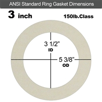 "Equalseal EQ 750W N/A NBR Ring Gasket - 150 Lb. - 1/16"" Thick - 3"" Pipe"