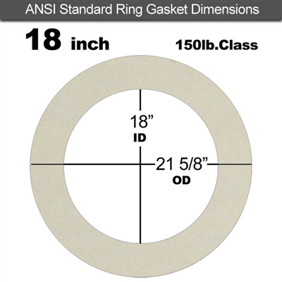 "Equalseal EQ 750W N/A NBR Ring Gasket - 150 Lb. - 1/8"" Thick - 18"" Pipe"