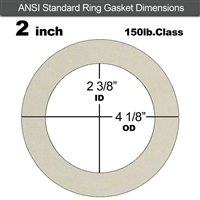 "Equalseal EQ 750W N/A NBR Ring Gasket - 150 Lb. - 1/8"" Thick - 2"" Pipe"