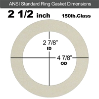 "Equalseal EQ 750W N/A NBR Ring Gasket - 150 Lb. - 1/8"" Thick - 2-1/2"" Pipe"