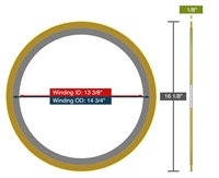 "Equalseal EQSWP - 150 Lb. Class - 12"" - Pack of 5 Spiral Wound Gaskets"