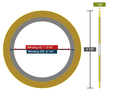 "Equalseal EQSWP - 300 Lb. Class - 6"" - Pack of 10 Spiral Wound Gaskets"