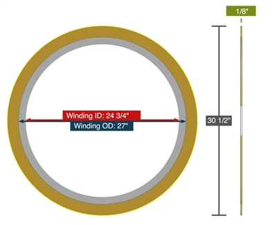 "Equalseal EQSWP - 300 Lb. Class - 24"" - Pack of 5 Spiral Wound Gaskets"