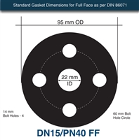 Donit GLD® Full Face Gasket - 1.6mm x DN15/PN40