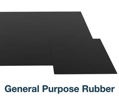 "General Purpose Rubber - 12"" x 12"" - 1/4"" Thick"