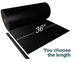 "Oil Resistant General Purpose Rubber - 36"" Wide - Cut to Length - 1/2"" Thick"