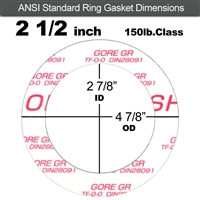 "GORE GR® Ring Gasket - 150 Lb. - 1/8"" Thick - 2-1/2"" Pipe"