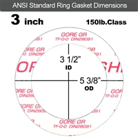 "GORE GR® Ring Gasket - 150 Lb. - 1/8"" Thick - 3"" Pipe"