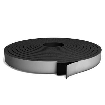 Black Medium Density PVC Foam Strip Roll with PSA