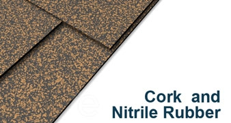 "Cork and Nitrile Rubber Sheet - 3/8"" Thick x 12"" x 12"""