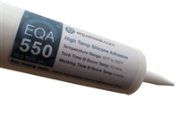"EQA 550 Silicone Adhesive 10.3 oz. Cartridge - (Yield = 1/8"" bead, 32 ft. long)"