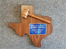 Texas Past Master with Gavel
