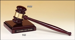 Rosewood Gavel and Block