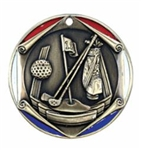"2"" Tri-Color Medal Golf"