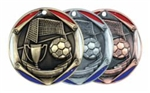 "2"" Tri-Color Medal Soccer"