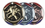 "2"" Tri-Color Medal Wrestling"