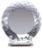 "6"" Crystal Plate w/ Stand"