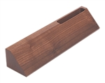 Walnut Desk Wedge with Card Holder