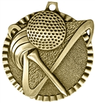 Golf Medal Gold 2 inches