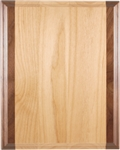 "Genuine Red Alder & Genuine Walnut Plaque 9"" x 12"""