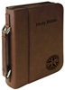 "7 1/2"" x 10 3/4"" Dark Brown Leatherette Bible Cover"