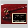 Rosewood Plaque and Gavel 9 x 12