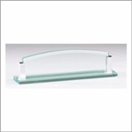 Glass Name Holder 10 x 2 1/2