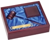Rosewood Gavel With Aluminum Band 11 1/2 x 9 1/2 x 2 3/4