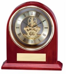 Rosewood Mantle Clock 8 x 8 1/2