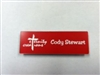 Plastic Rectangle Name Tag