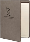 Executive Leatherette Portfolio (med) - Gray