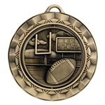 "2 5/16"" Spinner Medal, Football"