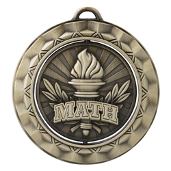 "2 5/16"" Spinner Medal, Math"