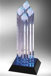 Achievement Diamond Four Posts Acrylic Award 12""