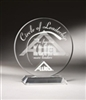 Circle Clear Acrylic Award 9""
