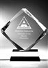 Achievement Diamond Clear Acrylic Award 8""