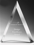 Triangle Clear Acrylic Award 8""