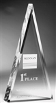 Triangle Clear Acrylic Award 6""