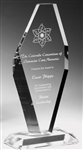 Offset Diamond Clear Acrylic Award 9""