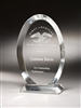 Clear Oval Acrylic Award 8""