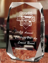 Square Multi-Faceted Clear Acrylic Award