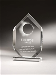 Multi-Facet Clear Acrylic Award 8""