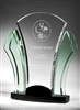 Achievement Clear Acrylic with Jade Wings Award 13""