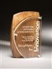 Artisan Rustic Brown Alder Wood Acrylic Award
