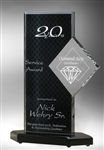 Achievement Black with White Diamond Acrylic Award