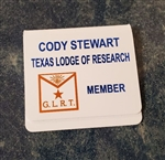 Texas Lodge of Research Pocket Badge - MEMBER