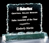 "Acrylic Award Crushed Ice Series 7 1/2"" x 6 1/4"""